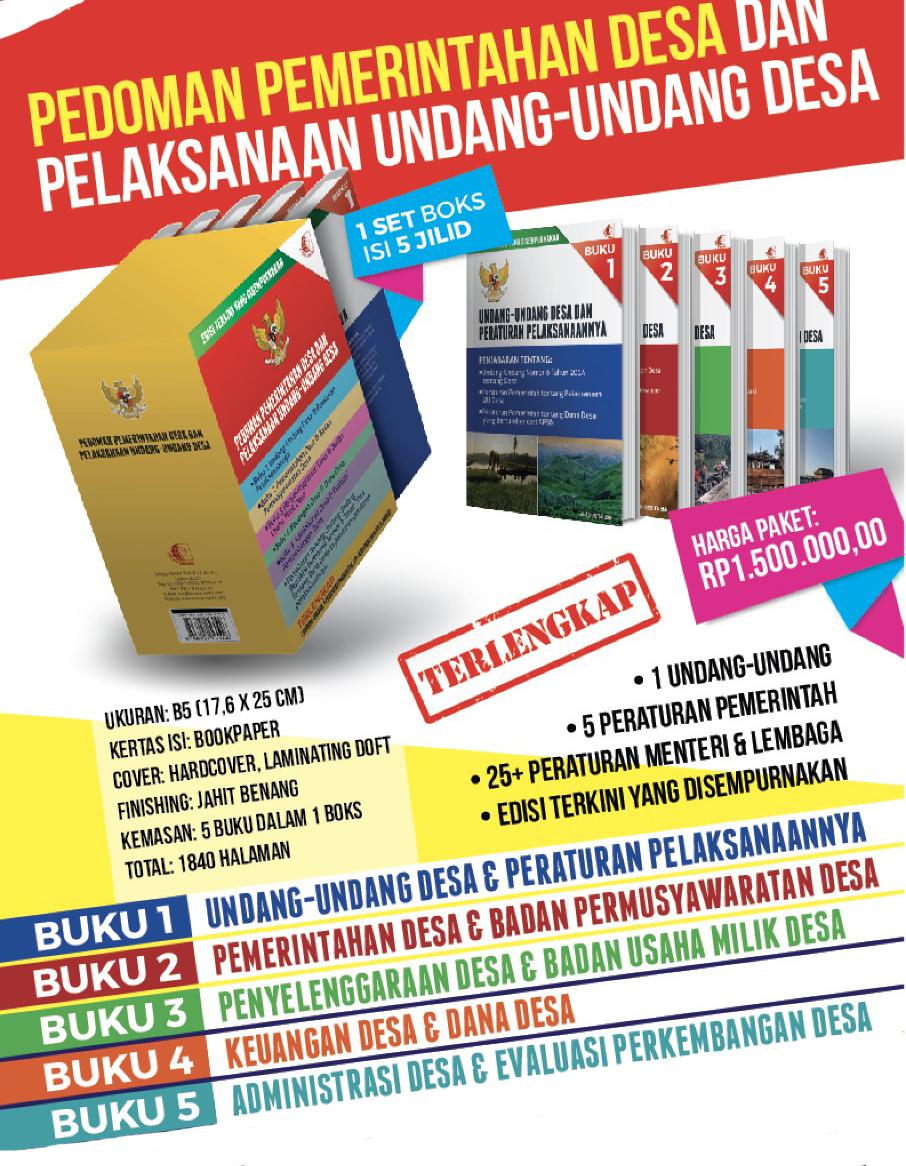 Buku Paket Pemerintahan Desa 0812 89692251